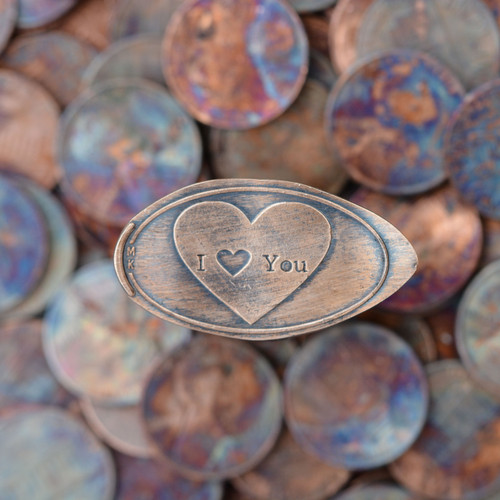 Pressed Copper Penny - I Love You