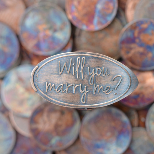 Pressed Copper Penny - Will You Marry Me?