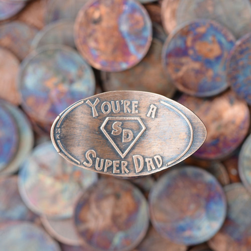 Pressed Copper Penny - You're A Super Dad