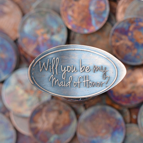 Pressed Copper Penny - Will You Be My Maid of Honor?