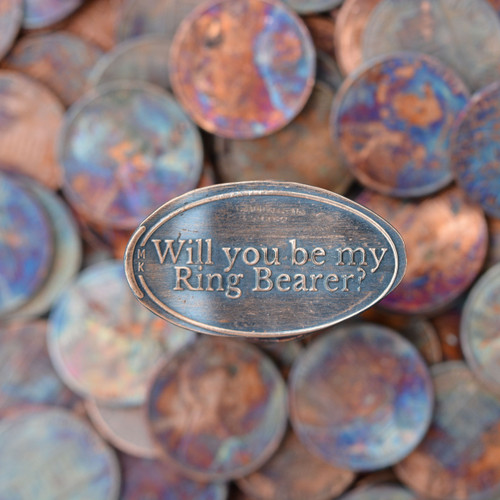 Pressed Copper Penny - Will you be my ring bearer?