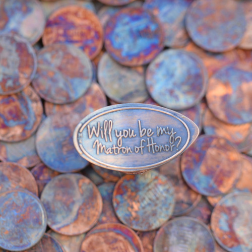 Pressed Penny - Will you be my matron of honor?
