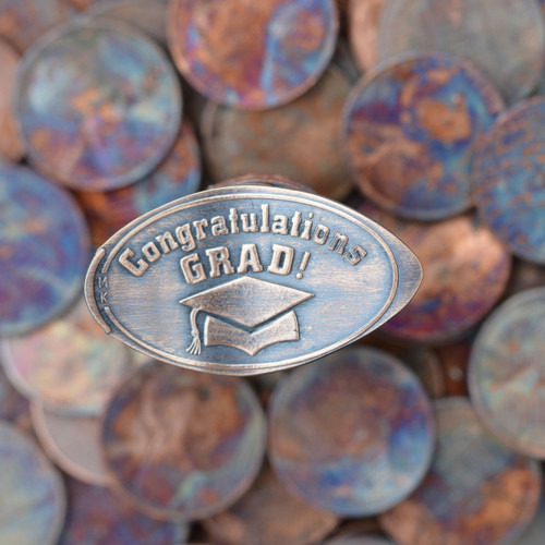 Pressed Copper Penny - Congratulations Grad