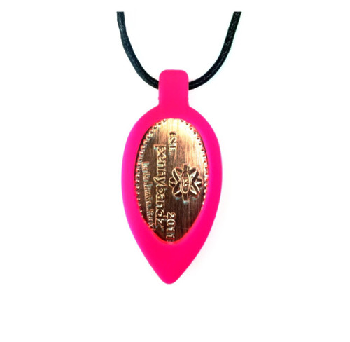 Pink Flamingo Pennybandz Necklace, Penny Bands, Penny Bandz, Copper Penny, Pressed Penny, Custom Pressed Penny, Custom Penny, Souvenir Pennies, The Penny Depot