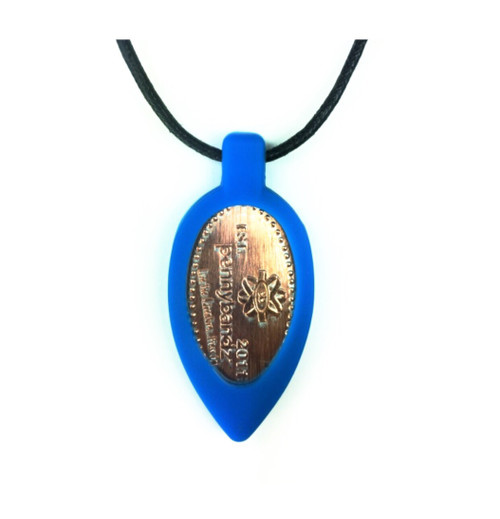 Surfer Blue Pennybandz Necklace, Penny Bands, Penny Bandz, Copper Penny, Pressed Penny, Custom Pressed Penny, Custom Penny, Souvenir Pennies, The Penny Depot