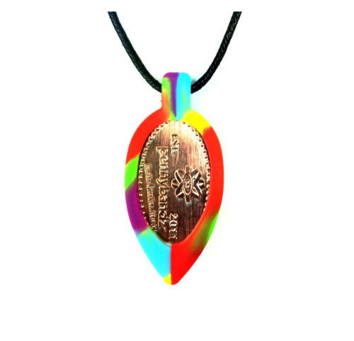Groovy Tie Die Pennybandz Necklace, Penny Bands, Penny Bandz, Copper Penny, Pressed Penny, Custom Pressed Penny, Custom Penny, Souvenir Pennies, The Penny Depot