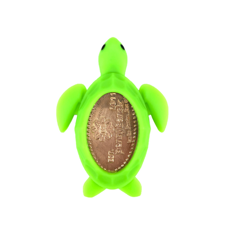 Turbo the Incredible Sea Turtle PennyPalz Pennybandz Magnet, Penny Pals, Penny Bands, Penny Bandz, Copper Penny, Pressed Penny, Custom Pressed Penny, Custom Penny, Souvenir Pennies, The Penny Depot
