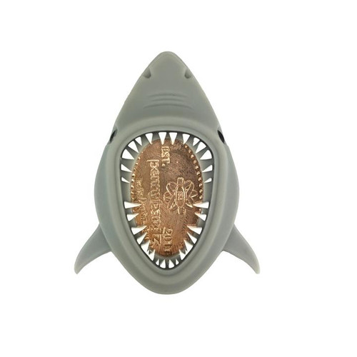 Crush the Shark PennyPalz Pennybandz Magnet, Penny Pals, Penny Bands, Penny Bandz, Copper Penny, Pressed Penny, Custom Pressed Penny, Custom Penny, Souvenir Pennies, The Penny Depot