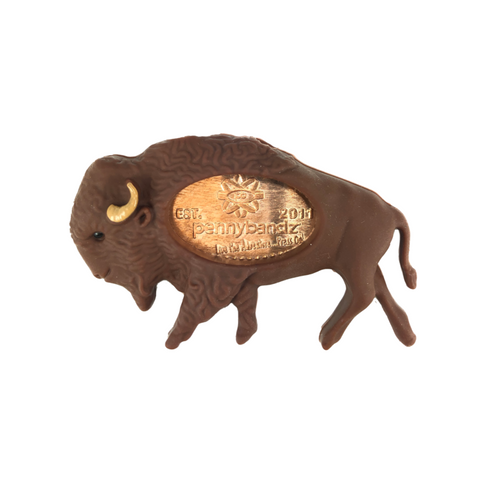 Billy the Bison PennyPalz Pennybandz Magnet, Penny Pals, Penny Bands, Penny Bandz, Copper Penny, Pressed Penny, Custom Pressed Penny, Custom Penny, Souvenir Pennies, The Penny Depot