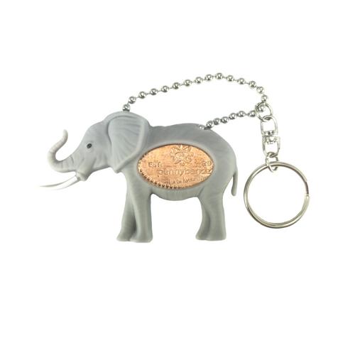 Flappy the Elephant PennyPalz Pennybandz Key Chain, Penny Pals, Penny Bands, Penny Bandz, Copper Penny, Pressed Penny, Custom Pressed Penny, Custom Penny, Souvenir Pennies, The Penny Depot