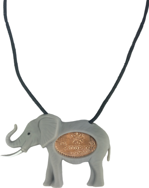 Flappy the Elephant PennyPalz Pennybandz Necklace, Penny Pals, Penny Bands, Penny Bandz, Copper Penny, Pressed Penny, Custom Pressed Penny, Custom Penny, Souvenir Pennies, The Penny Depot