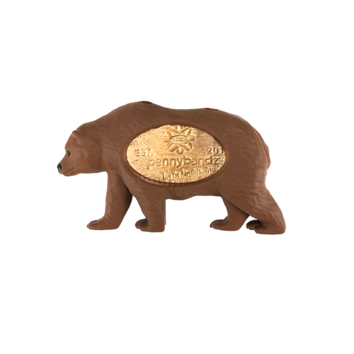 Grizzly the Grizzly Bear PennyPalz Pennybandz Magnet, Penny Pals, Penny Bands, Penny Bandz, Copper Penny, Pressed Penny, Custom Pressed Penny, Custom Penny, Souvenir Pennies, The Penny Depot