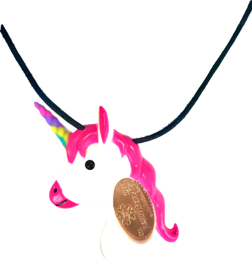 Penny the Unicorn PennyPalz Pennybandz Necklace, Penny Pals, Penny Bands, Penny Bandz, Copper Penny, Pressed Penny, Custom Pressed Penny, Custom Penny, Souvenir Pennies, The Penny Depot