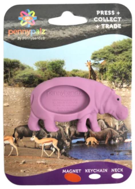 Henry The Hippo PennyPalz Pennybandz Magnet, Penny Pals, Penny Bands, Penny Bandz, Copper Penny, Pressed Penny, Custom Pressed Penny, Custom Penny, Souvenir Pennies, The Penny Depot