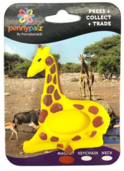 Stretch the Giraffe Magnet PennyPalz Pennybandz Magnet, Penny Pals, Penny Bands, Penny Bandz, Copper Penny, Pressed Penny, Custom Pressed Penny, Custom Penny, Souvenir Pennies, The Penny Depot