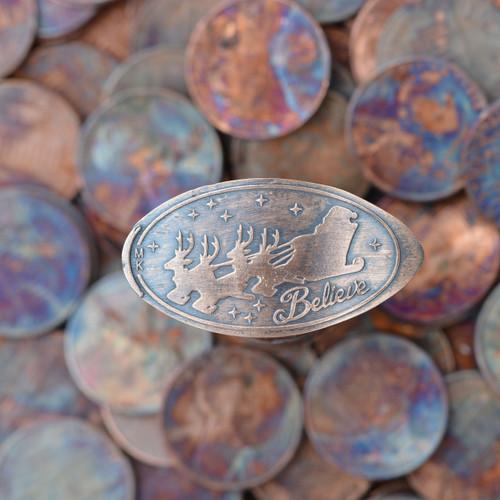 Pressed Copper Penny - Believe in Santa