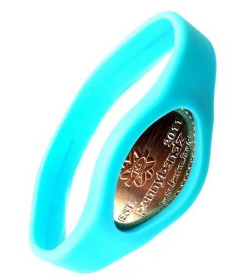 Ocean Turquoise Pennybandz Bracelet, Penny Bands, Penny Bandz, Copper Penny, Pressed Penny, Custom Pressed Penny, Custom Penny, Souvenir Pennies, The Penny Depot