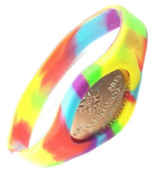 Groovy Tie-Dye Pennybandz Bracelet, Penny Bands, Penny Bandz, Copper Penny, Pressed Penny, Custom Pressed Penny, Custom Penny, Souvenir Pennies, The Penny Depot