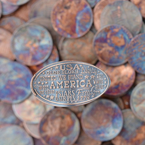 Pressed Copper Penny - USA Proud - American 4th of July