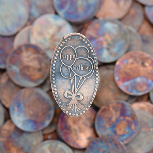 Pressed Copper Penny - Happy Birthday