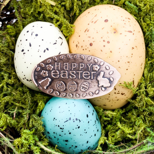 Pressed Copper Penny - Happy Easter - Easter Collection - The Penny Depot