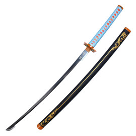 41 Metal Fantasy Samurai Replica Demon Slayer Sword Kanroji Mitsuri Sword W Scabbard Mitsuri kanroji cosplay sword anime. 41 metal fantasy samurai replica demon