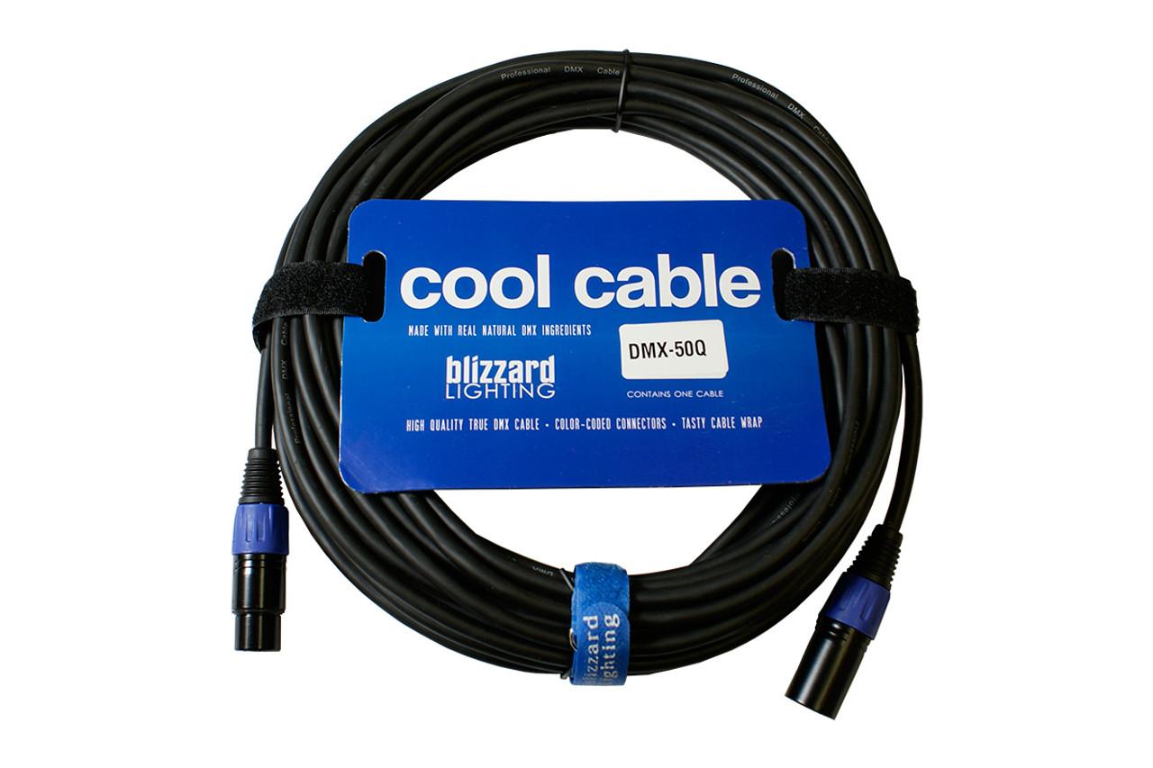 Blizzard DMX-50q. 50' 3-Pin DMX Cable