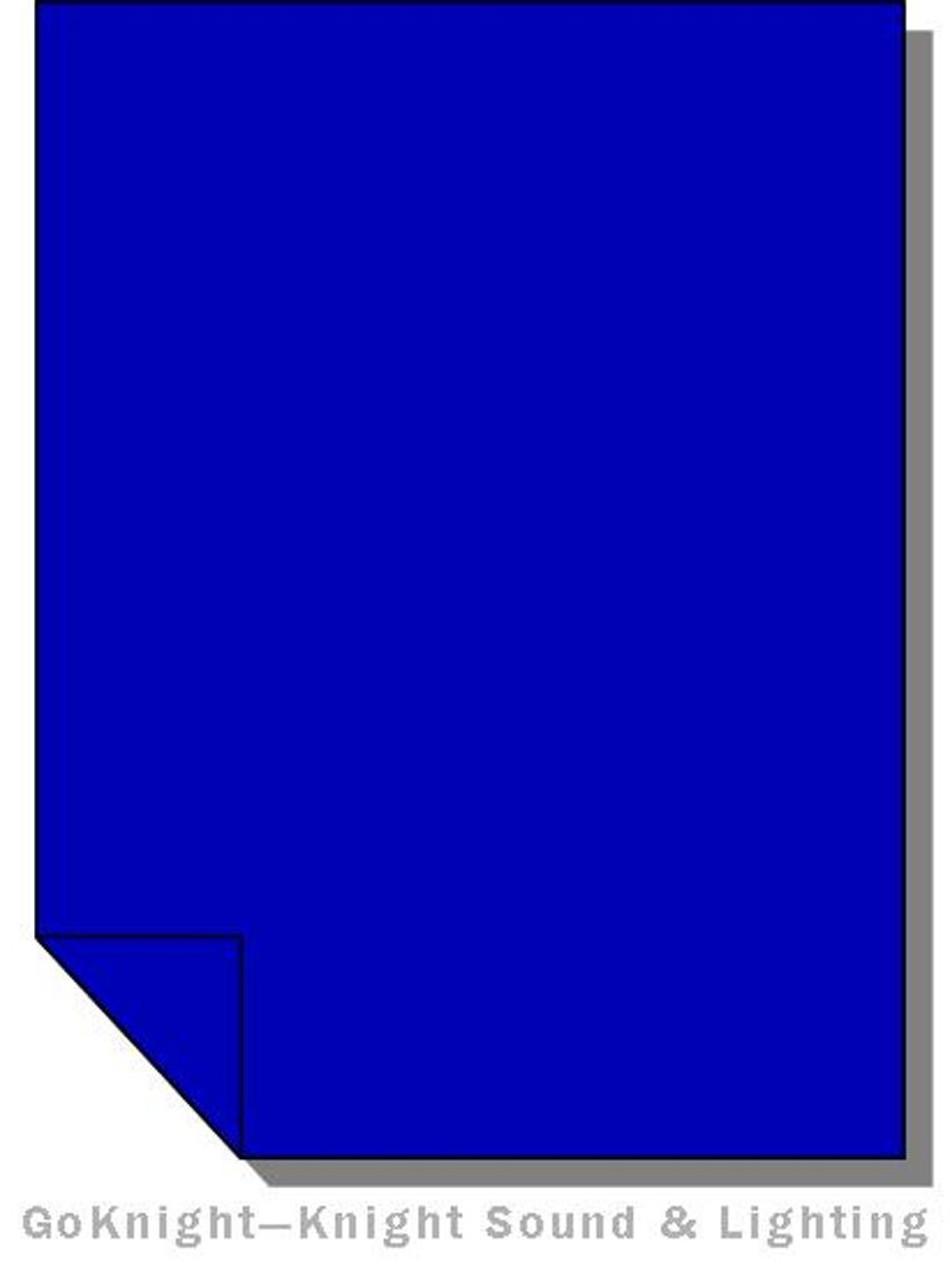 """Lee Filters 071 Tokyo Blue Lighting Gel Sheet 21"""" x 24"""""""