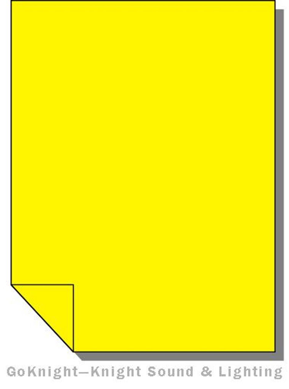 "Lee Filters Lighting Gel Sheet 101 Yellow 21"" x 24"""
