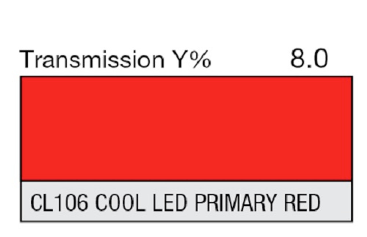 "Lee Filters CL 106 Cool LED Primary Red Lighting Gel Sheet 21"" x 24"""