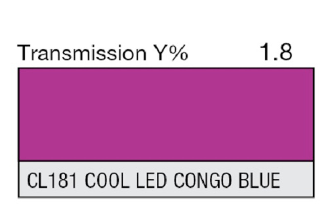 Lee Filters Lighting Gel Sheet Cl 181 Cool Led Congo Blue