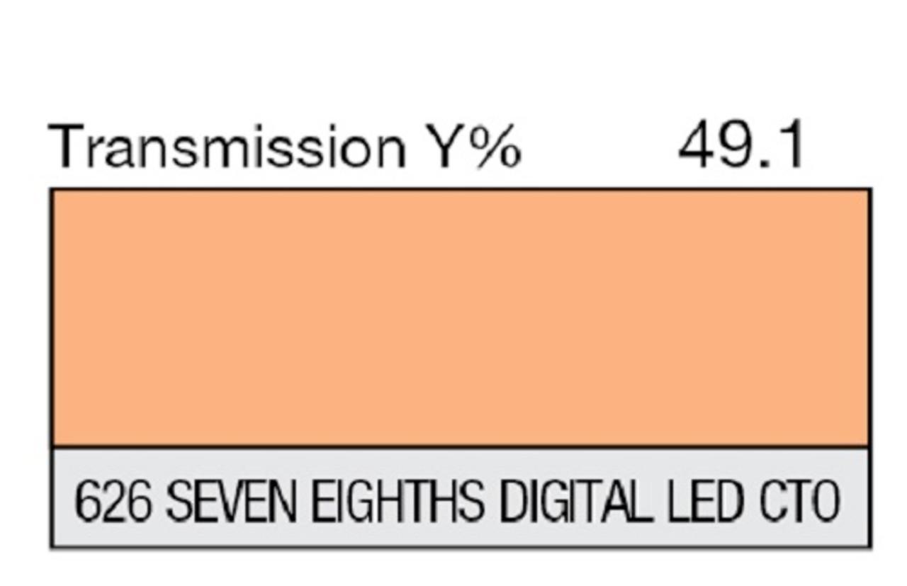 "Lee Filters 626 Seven Eighths Digital LED C.T.O. Lighting Gel Sheet 21"" x 24"""
