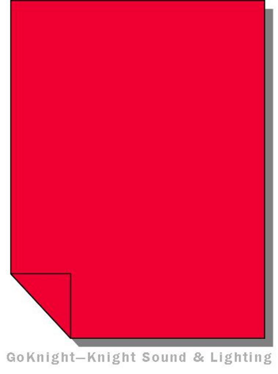 LEE FILTERS 106 SHEET PRIMARY RED SHEET Gel-Sheets