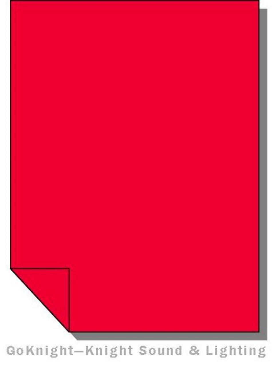 """Lee Filters 106 Primary Red Lighting Gel Sheet 21"""" x 24"""""""