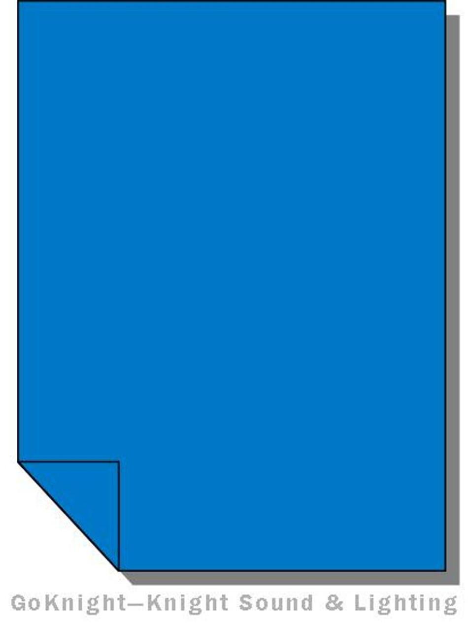"""Lee Filters 119 Dark Blue Lighting Gel Sheet 21"""" x 24"""""""
