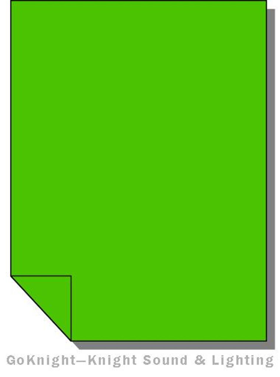 "Lee Filters 139 Primary Green Lighting Gel Sheet 21"" x 24"""