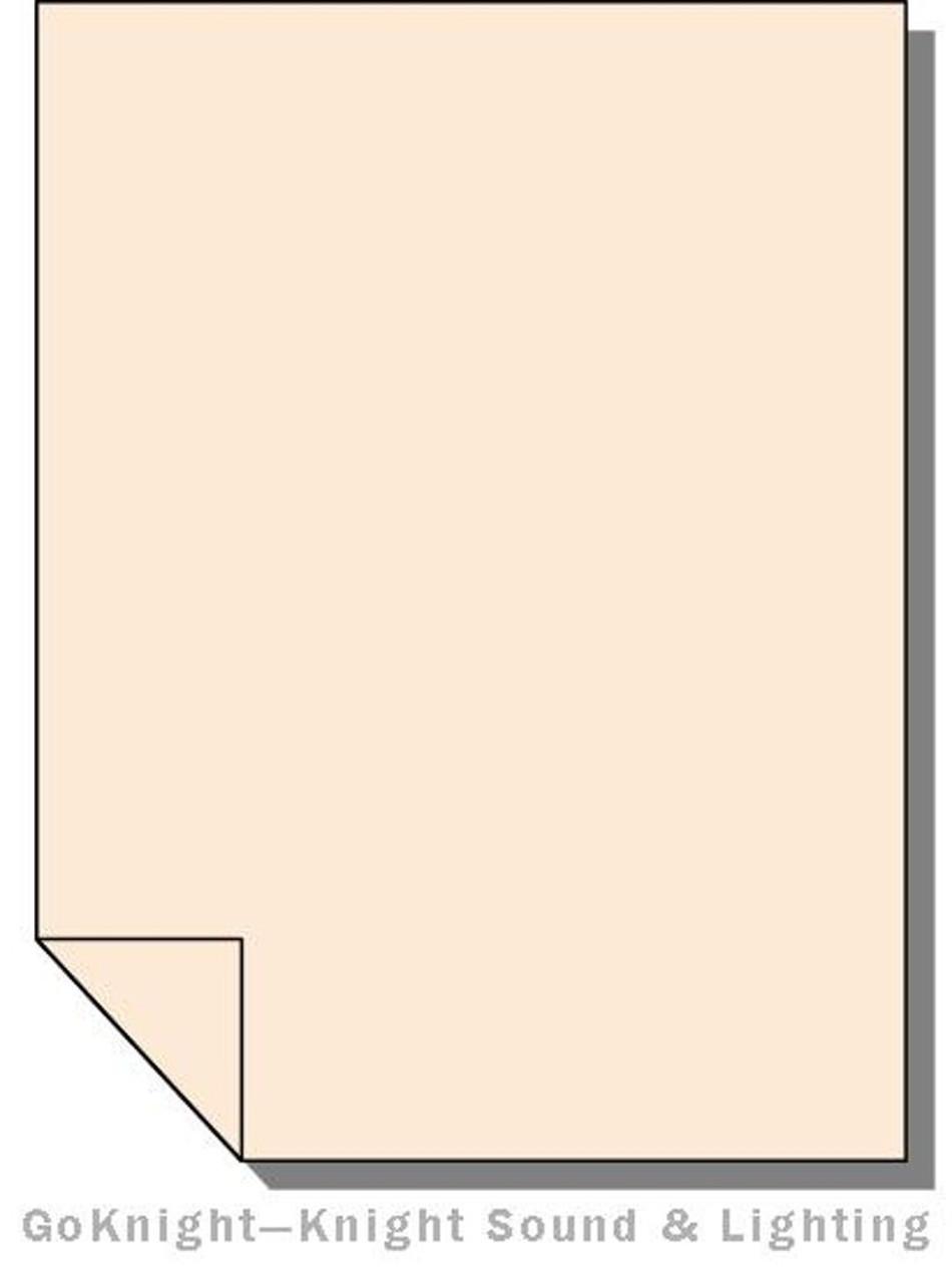 "Lee Filters 206 Quarter CTO Orange Lighting Gel Sheet 21"" x 24"""