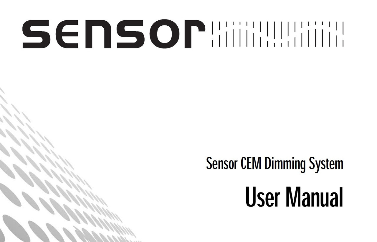 ETC Sensor CEM Dimming System User Manual - GoKnight