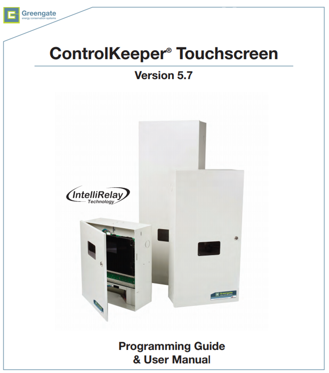 PCI ControlKeeper® Touchscreen Programming Guide & User Manual