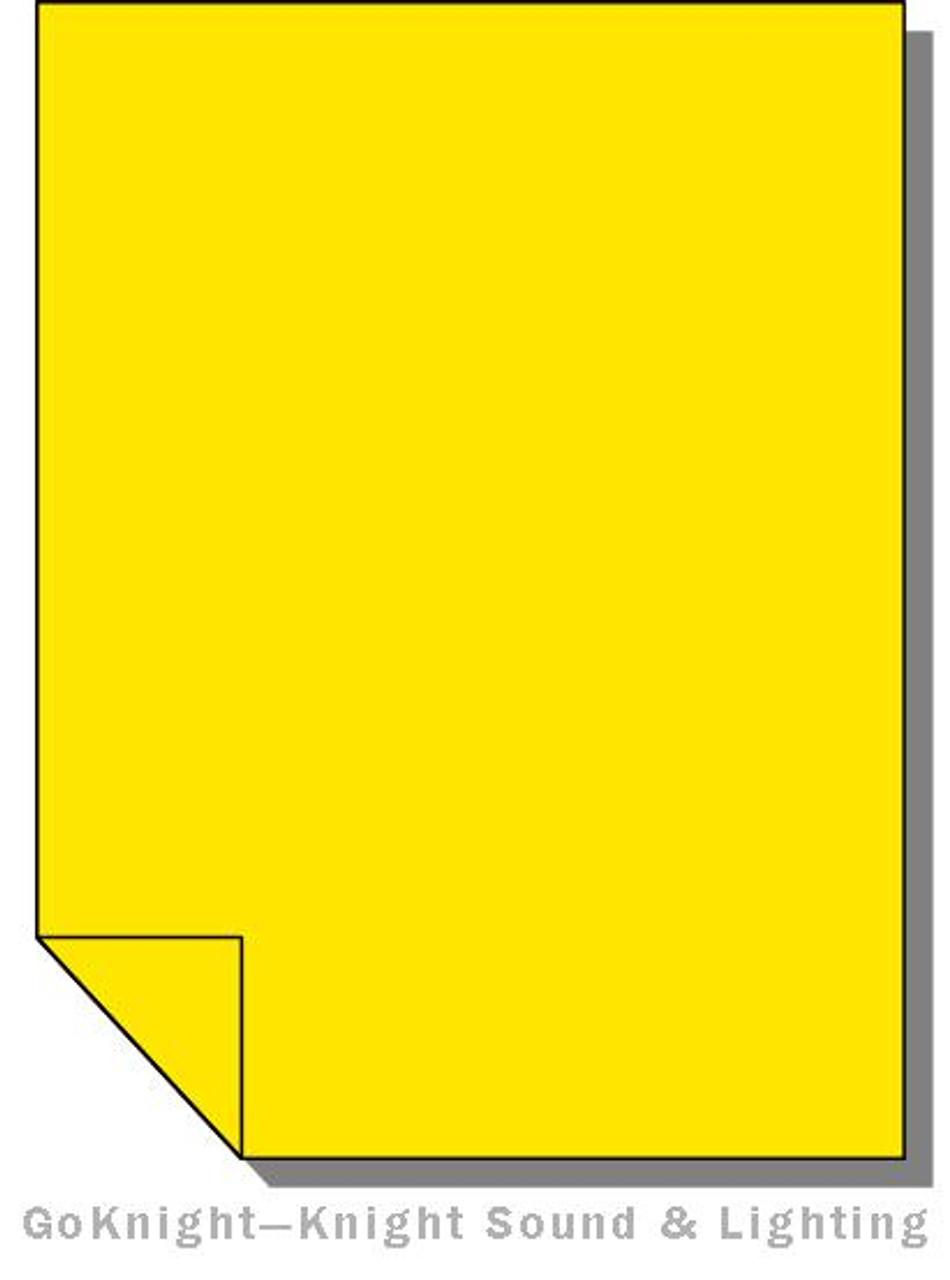 Lee Filters Lighting Gel Sheet 767 Oklahoma Yellow (Lee 767)