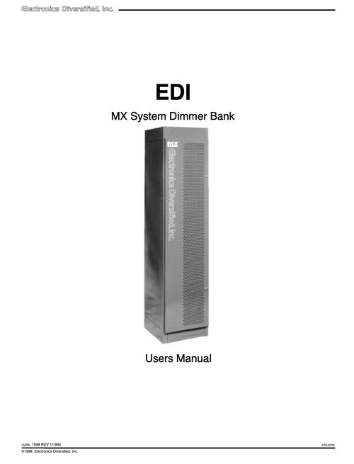 EDI MX Rack User Manual