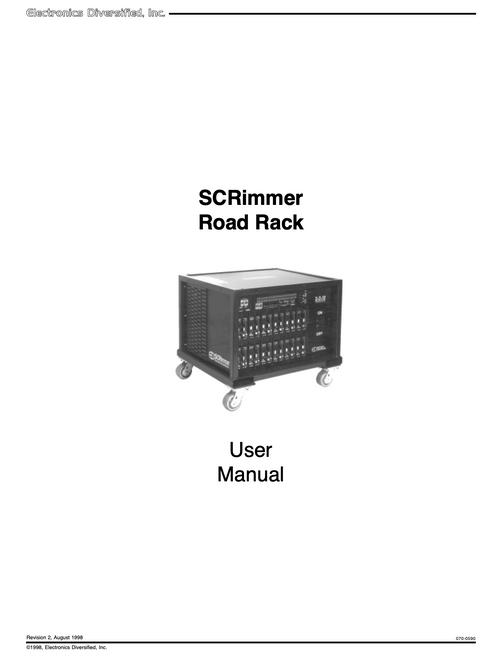 EDI Roadrack 48 User Manual