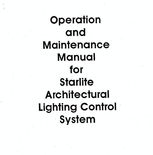 EDI Starlite Architectural System User Manual