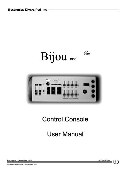 EDI Bijou Console User Manual