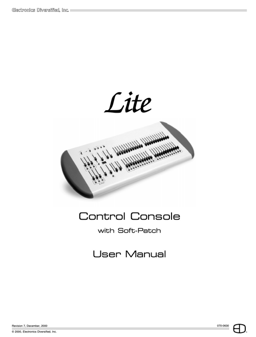 EDI Lite Console User Manual