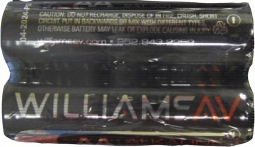 Williams Sound BAT 001-2  Two (2) 1.5-Volt AA Alkaline Batteries (BAT 001-2)