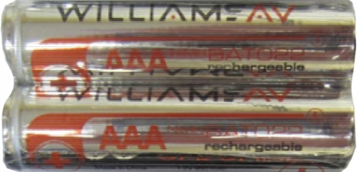 Williams Sound BAT 022-2  Two (2) 1.2-volt AAA rechargeable NiMH Batteries