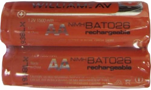 Williams Sound BAT 026-2  Two (2) 1.2-volt AA Rechargeable NiMH Batteries (BAT 026-2)