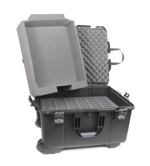 Williams Sound Heavy-duty Carry Case with Wheels for Large Digi-Wave, FM or Infrared System Includes 1 60-slot foam insert and 1 Open-bay Foam Insert (CCS 054)