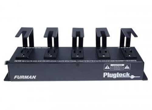 Furman Sound 15A Power Distribution Strip (No Surge Protection), 5 Spaced Outlets W/Brackets, 5Ft Cord PLUGLOCK